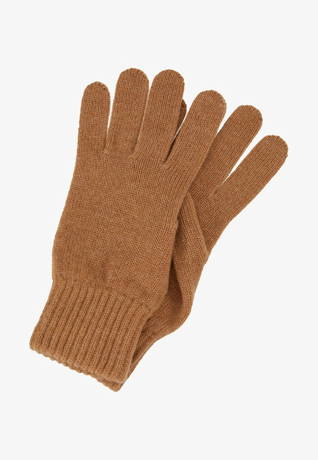 CASHMERE GLOVES - Fingervantar - camel