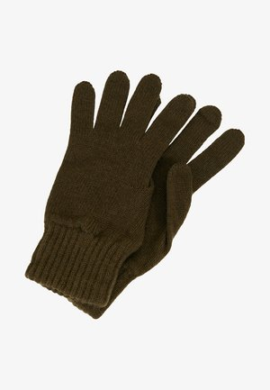 CASHMERE GLOVES - Gloves - dark olive
