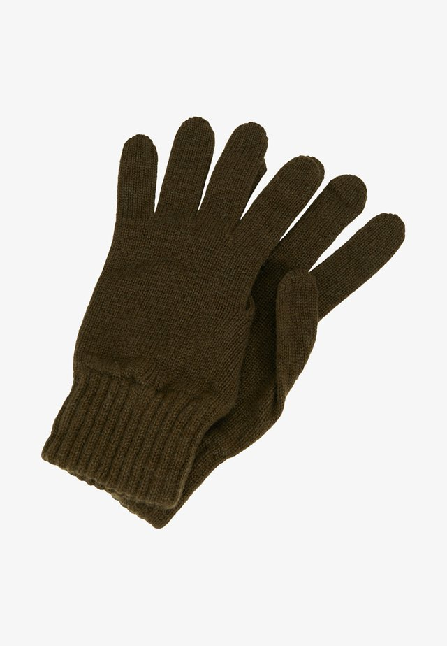 CASHMERE GLOVES - Sormikkaat - dark olive