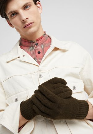 CASHMERE GLOVES - Rukavice - dark olive