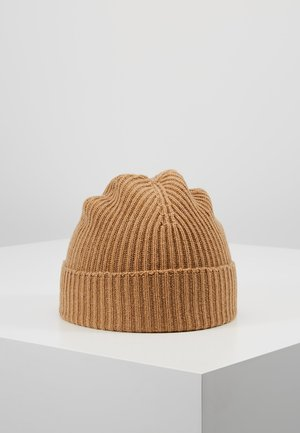 CASHMERE BEANIE - Mütze - camel
