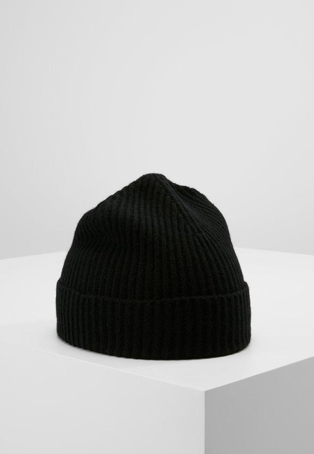 CASHMERE BEANIE - Mütze - black