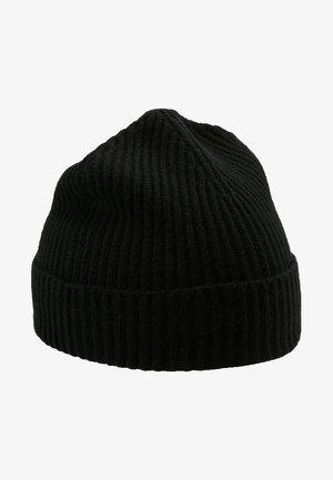 CASHMERE BEANIE - Bonnet - black