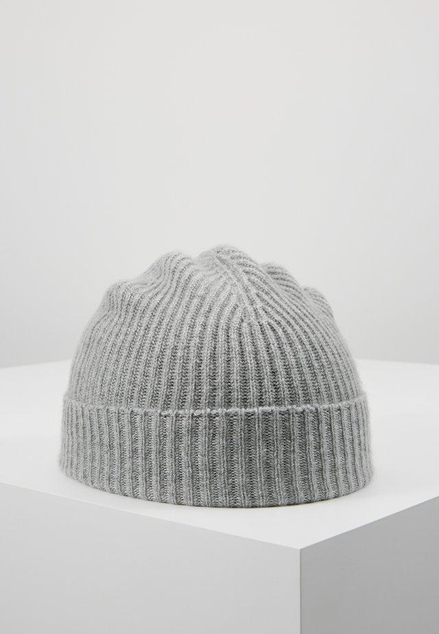 CASHMERE BEANIE - Mütze - silver