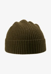 Johnstons of Elgin - CASHMERE BEANIE - Muts - dark olive - 4