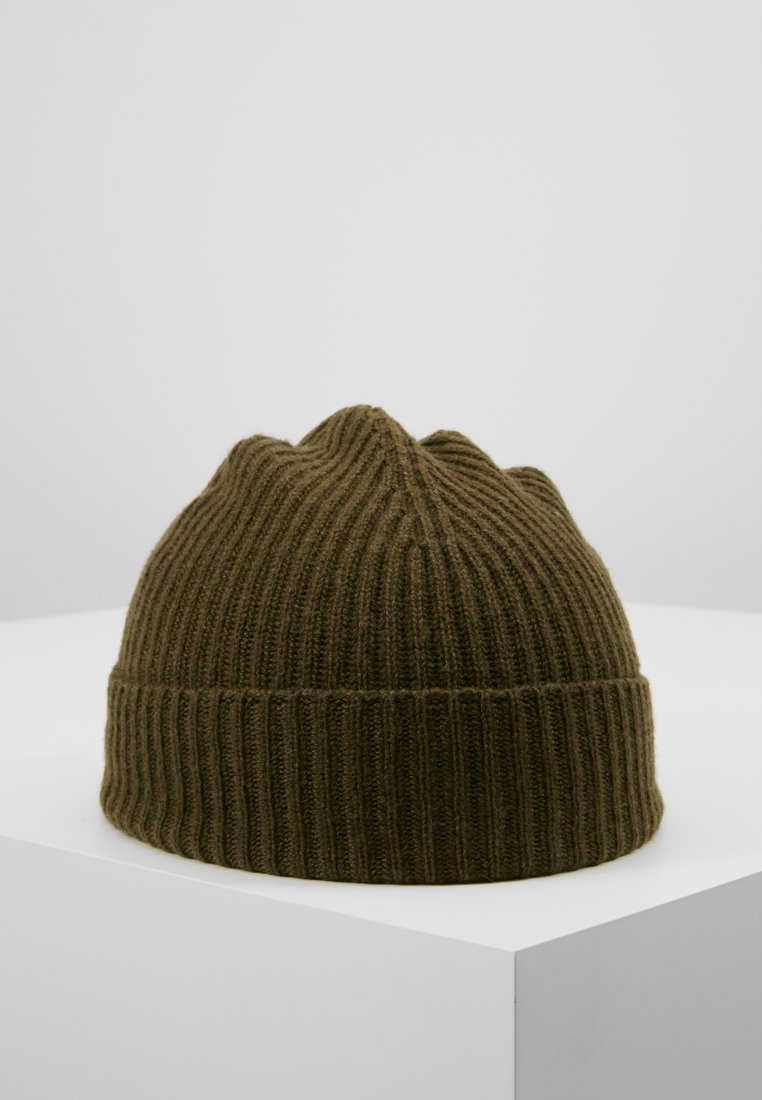 Johnstons of Elgin - CASHMERE BEANIE - Muts - dark olive