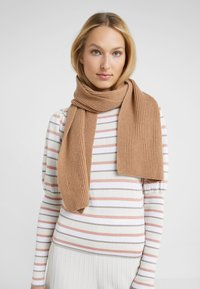 Johnstons of Elgin - RIBBED CASHMERE SCARF - Šála - camel - 1