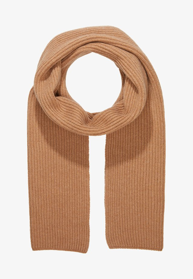 RIBBED CASHMERE SCARF - Schal - camel