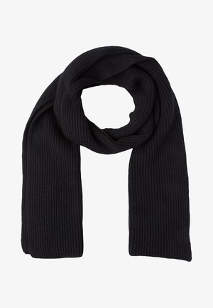 RIBBED CASHMERE SCARF - Sjaal - black