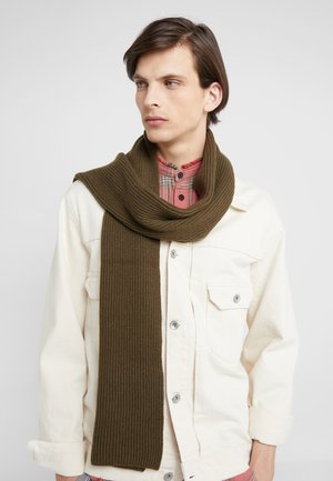 RIBBED CASHMERE SCARF - Sjaal - dark olive
