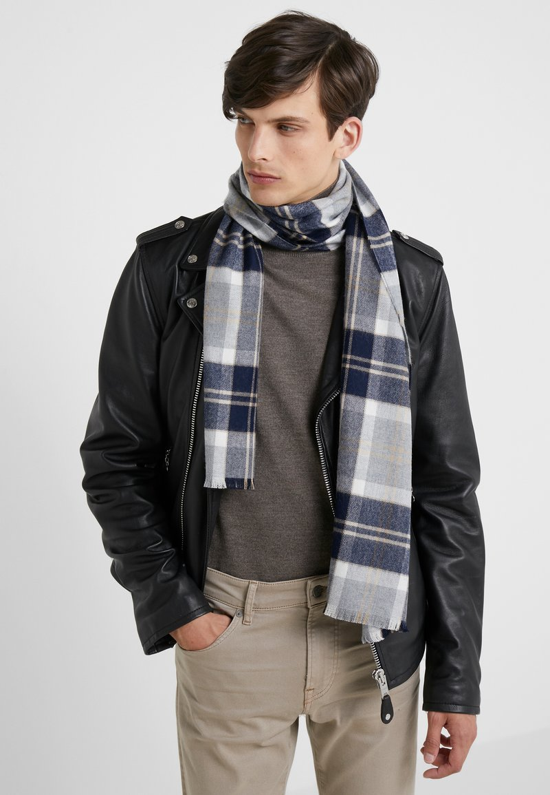 Johnstons of Elgin - TARTAN SCARF - Écharpe - silver
