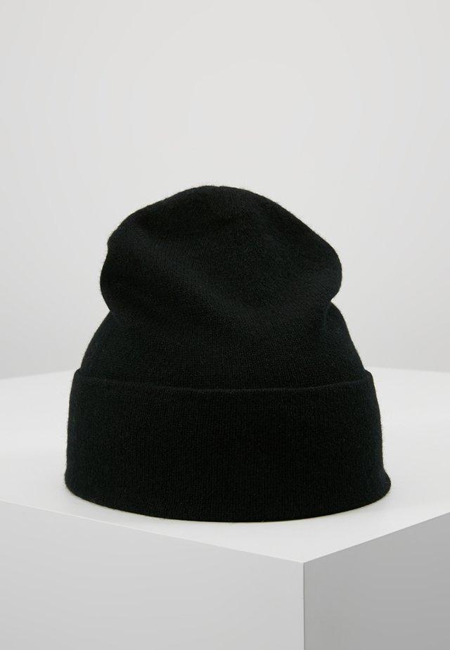 CASHMERE BEANIE - Huer - black