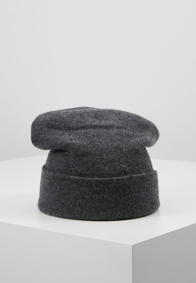 CASHMERE BEANIE - Bonnet - dark granite