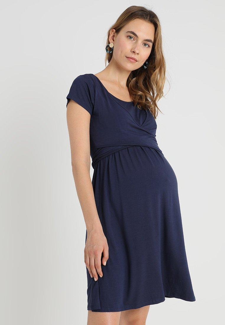 JoJo Maman Bébé - MATERNITY & NURSING WRAP DRESS - Sukienka z dżerseju - midnight blue
