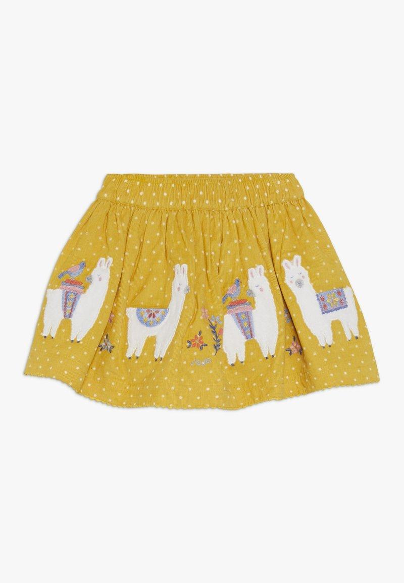 JoJo Maman Bébé - LLAMA SKIRT - Minirok - yellow