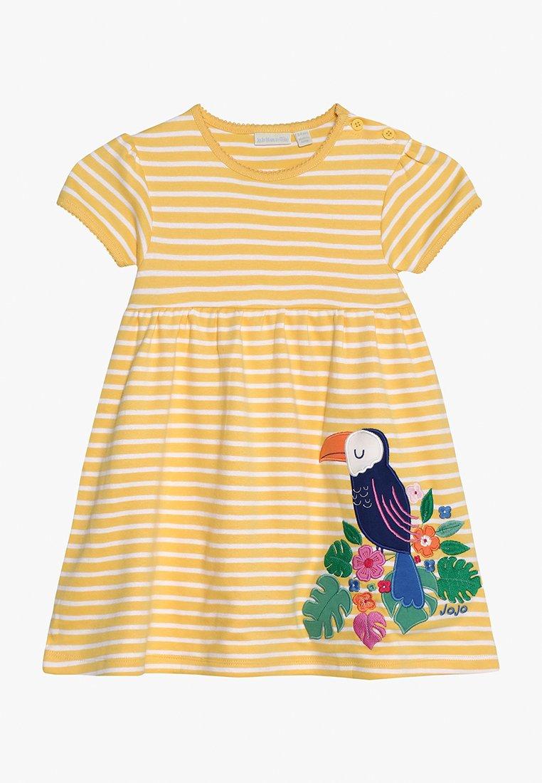 JoJo Maman Bébé - TOUCAN APPLIQUE DRESS - Žerzejové šaty - yellow