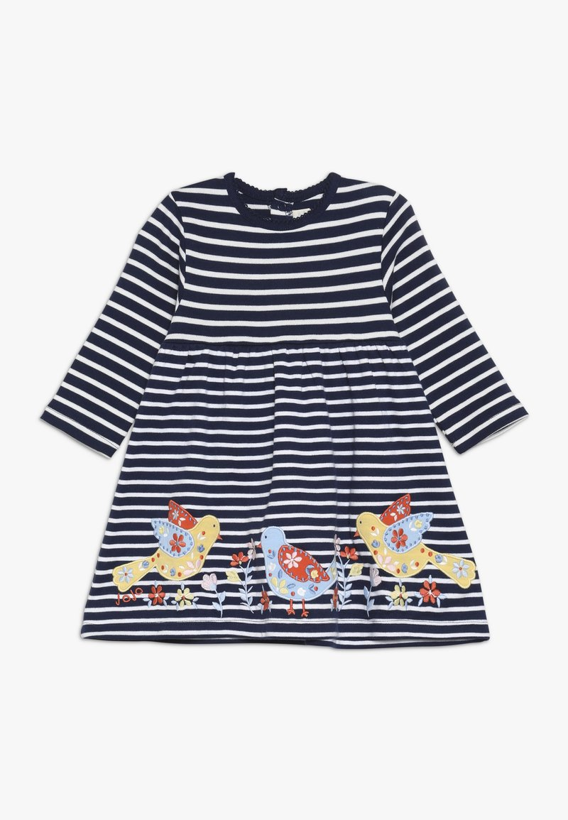 JoJo Maman Bébé - BIRD APPLIQUE DRESS - Jersey dress - navy