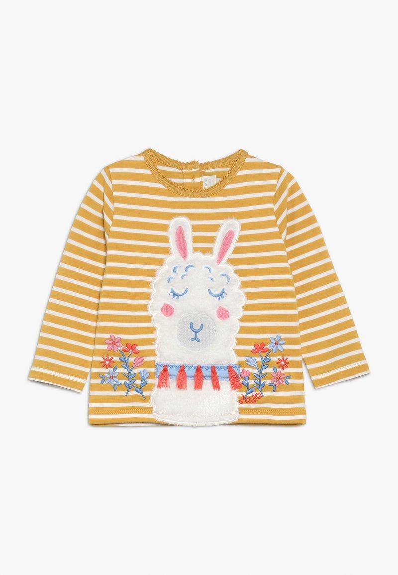 JoJo Maman Bébé - FLORAL LLAMA STRIPE - T-shirt à manches longues - mus
