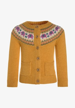 ELEPHANT FAIR ISLE CARDIGAN - Neuletakki - yellow