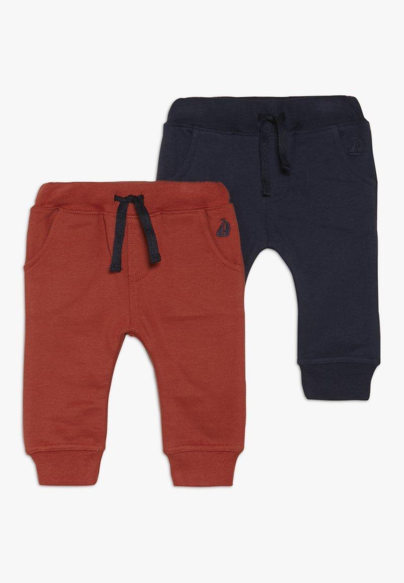 JoJo Maman Bébé - JOGGERS 2 PACK - Pantalon de survêtement - orange/dark blue