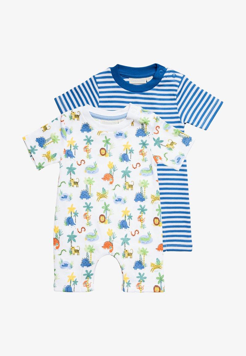 JoJo Maman Bébé - SAFARI ROMPER BABY 2 PACK - Jumpsuit - blue