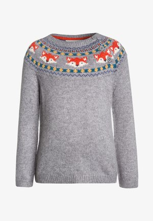 FOX FAIR ISLE JUMPER - Neule - marl grey