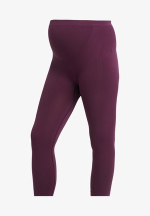 ACTIVE SUPPORT CROPPED - Legging - burgundy