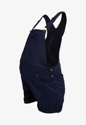 SHORT DUNGAREES - Shorts - navy