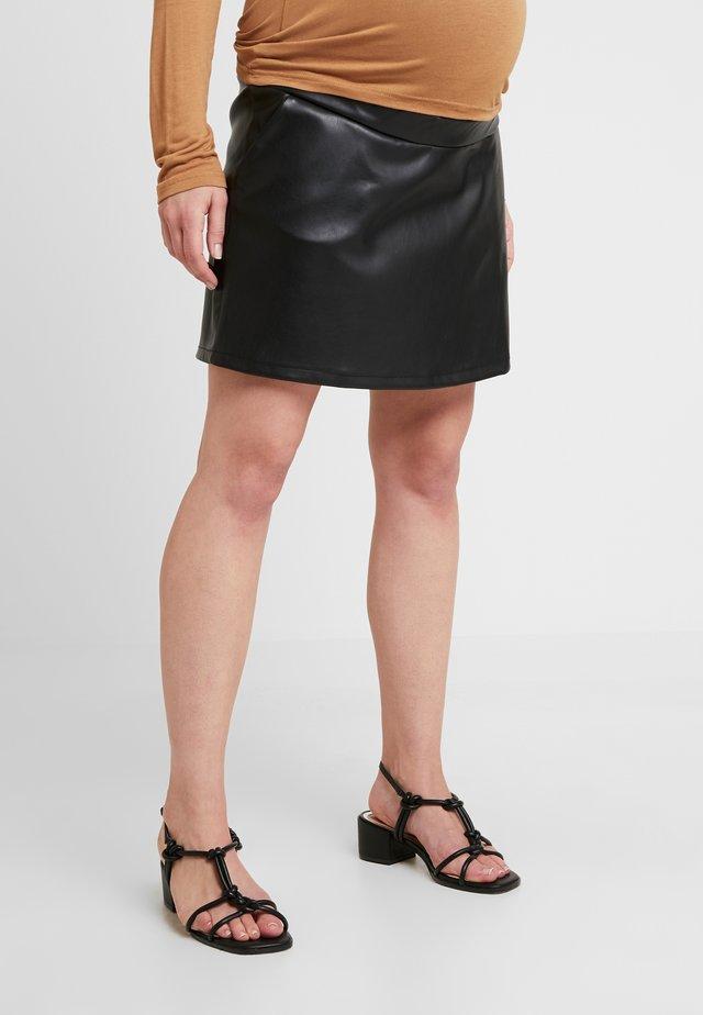 MINISKIRT - Áčková sukně - black
