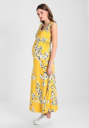 FLORAL DRESS - Vestito lungo - yellow