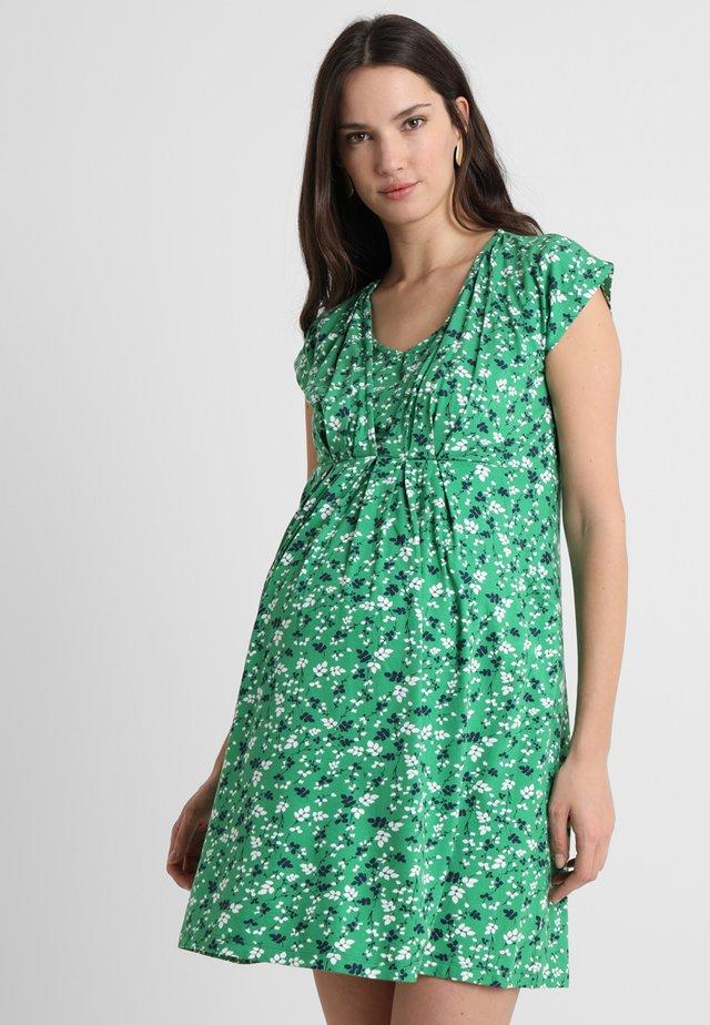 PLEATED - Jersey dress - green