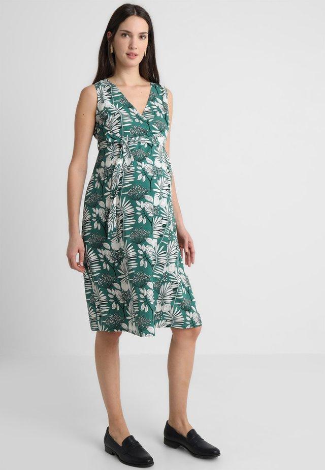 PALM WRAP DRESS - Korte jurk - green