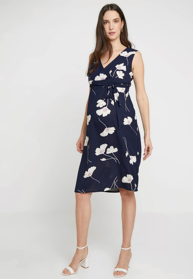WIDE BELT DRESS - Denní šaty - navy