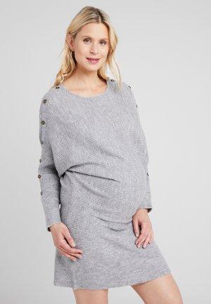 BATWING JUMPER DRESS - Strikket kjole - marl grey