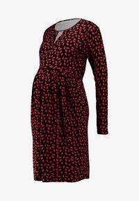 JoJo Maman Bébé - KEYHOLE PLEAT DRESS - Vestito di maglina - black - 3