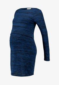JoJo Maman Bébé - MARL NURSING DRESS - Strikket kjole - navy - 5
