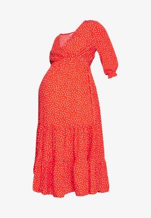 TIERRED DRESS - Vestido informal - red
