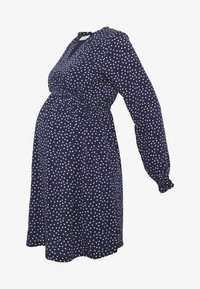 JoJo Maman Bébé - SPOT SHIRRING DRESS - Sukienka z dżerseju - navy - 4