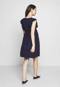 JoJo Maman Bébé - BROIDERIE ANGLAISE DRESS - Sukienka z dżerseju - navy - 2