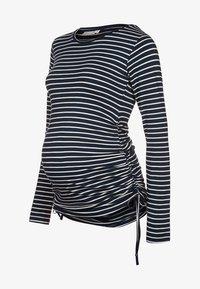 JoJo Maman Bébé - Langærmede T-shirts - navy/ecru stripes - 4
