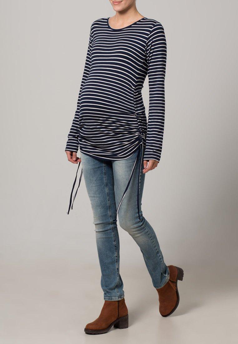JoJo Maman Bébé - Langærmede T-shirts - navy/ecru stripes