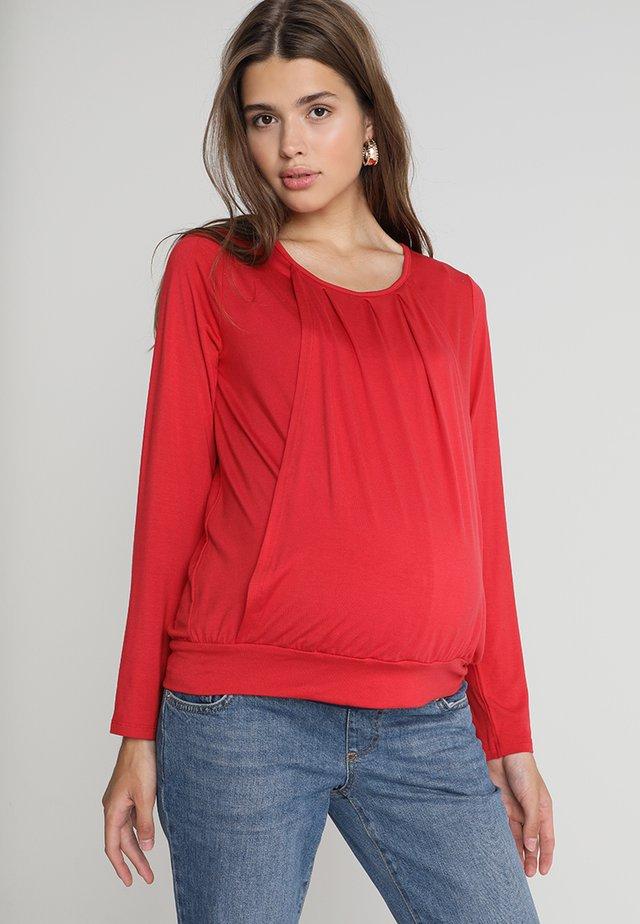 MATERNITY NURSING TOP - Langarmshirt - red