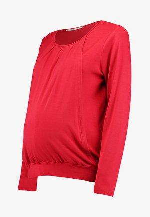 MATERNITY NURSING TOP - Long sleeved top - red