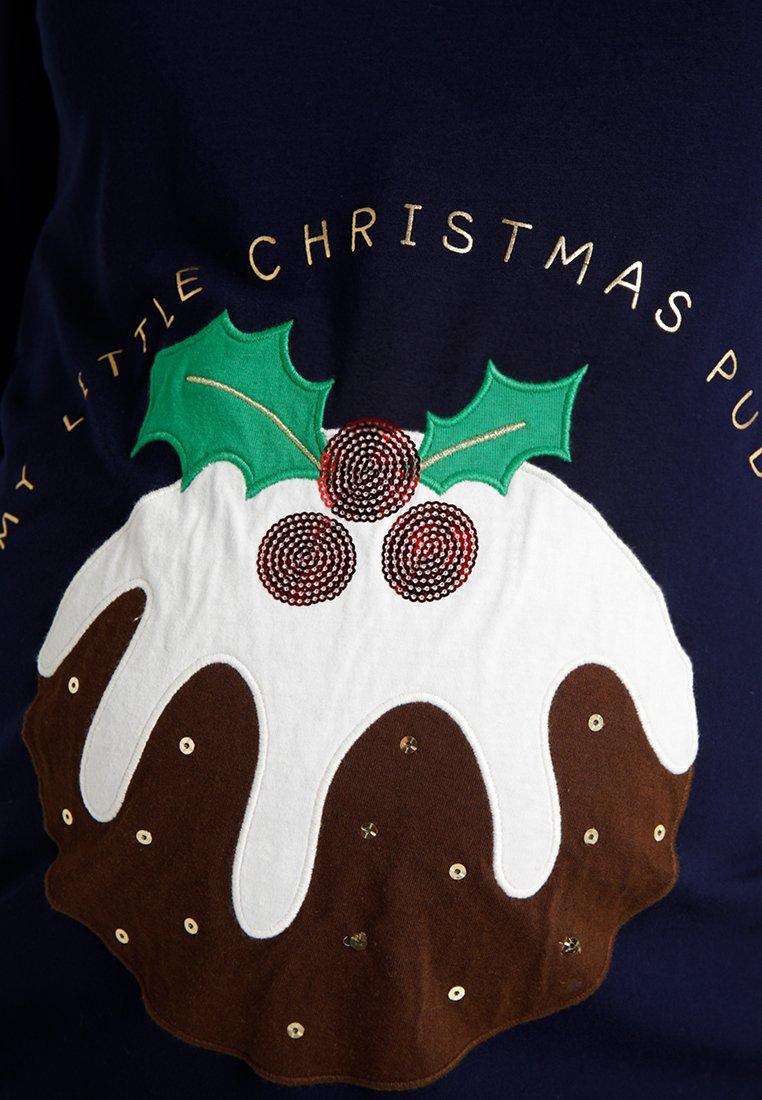 Manica Bébé SloganMaglietta Jojo Lunga A Maman Navy Christmas 54j3ALR