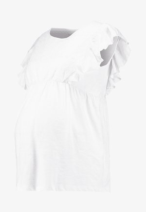 BRODERIE ANGLAISE - Printtipaita - white