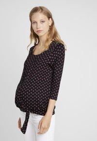 JoJo Maman Bébé - BUD WRAP - T-shirt à manches longues - black - 0