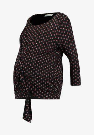 BUD WRAP - Maglietta a manica lunga - black