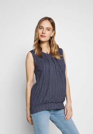 BATIK SLEEVELESS PLEATED MATERNITY AND NURSING - Top - navy