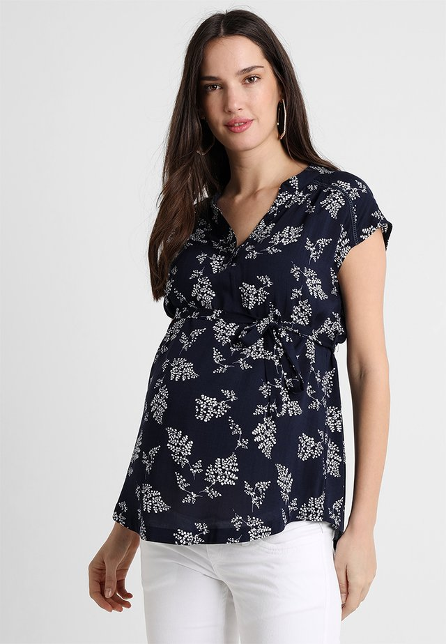 LEAF SUMMER BLOUSE - Camicetta - navy
