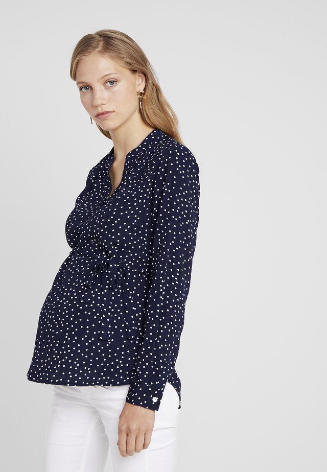 SPOT BLOUSE - Button-down blouse - navy